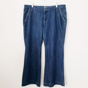 Old Navy The Diva Dark Wash Wide Leg Trouser Jeans